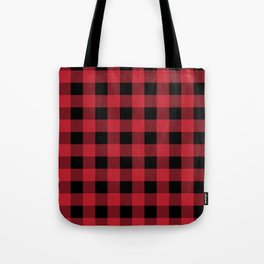 Red Flannel Tote Bag