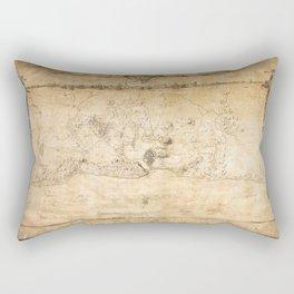 Plan of the Siege of the Havana Surrender (Aug. 12, 1762) Rectangular Pillow