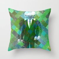 clown Throw Pillows featuring Clown... by William Rutherford
