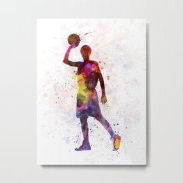young man basketball player Metal Print