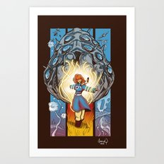 Valley of The Wind Art Print