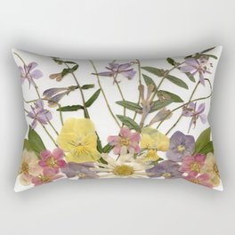 Colorful Flower Garden Rectangular Pillow