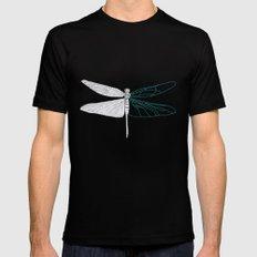 Geometric Dragonfly MEDIUM Black Mens Fitted Tee
