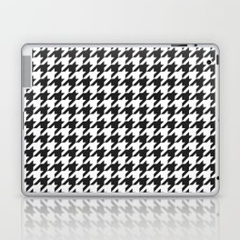 Black and white houndstooth pattern Laptop & iPad Skin