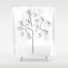 Joshua Tree Blanco Shower Curtain