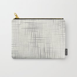 Crosshatch Silver Carry-All Pouch