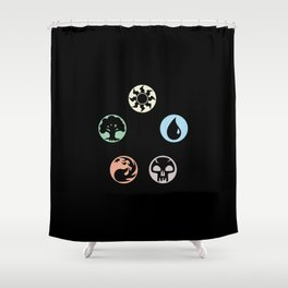 MTG Symbols Shower Curtain