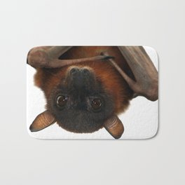 Little Red Flying Fox Hanging Out Bath Mat
