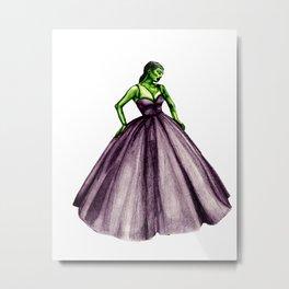 zombie girl dress Metal Print
