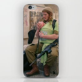 A Soldier & His Baby iPhone Skin