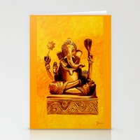 ganesha Stationery Cards featuring Ganesha by Ninamelusina