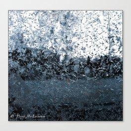 Frosted Window Pane 1g Ingrid_Metal_Pinstripe Canvas Print