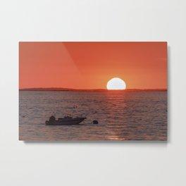 Plum Cove Beach Sunset 7-11-18 Metal Print