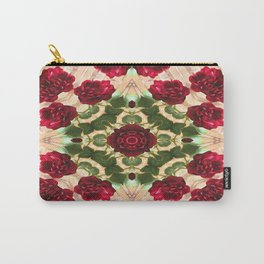 Old Red Rose Kaleidoscope 6 Carry-All Pouch