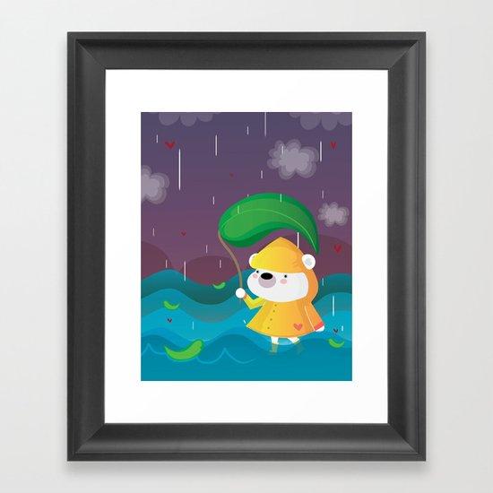 Walk on the rain Framed Art Print