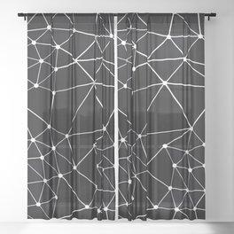 Seg Black Sheer Curtain