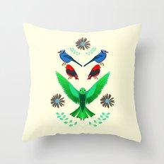 Fåglar du? Throw Pillow