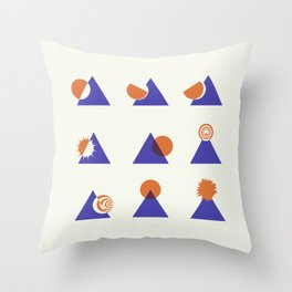 Circle Meets Triangle - Composition 13 Throw Pillow