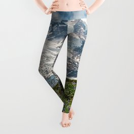Scenic Landscape Art, Mt. Rainier, Mt. Rainier National Park, Paradise Leggings