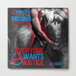 Anarchy Found - A (Superhero Romance)  - by JA Huss Metal Print