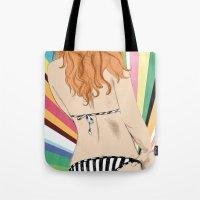 bikini Tote Bags featuring Bikini by Sil-la Lopez