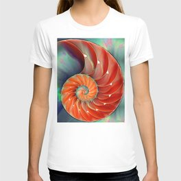 Nautilus Shell - Nature's Perfection by Sharon Cummings T-shirt
