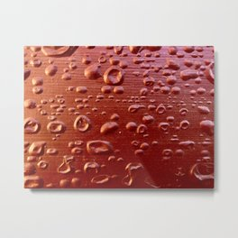 Red bubble paint Metal Print