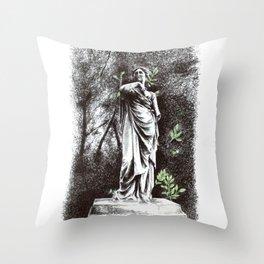 Iveagh Gardens Statue Throw Pillow