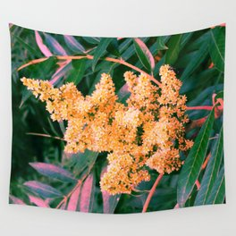 Green and Gold Sideways Sumac Wall Tapestry