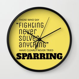 Sparring Wall Clock
