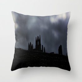 Whitby Abbey Throw Pillow