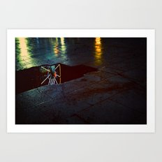 fair lights and loneliness Art Print