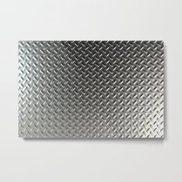 Dirty checkered steel plate Metal Print