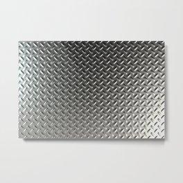 Dirty checkered steel plate Metal Print