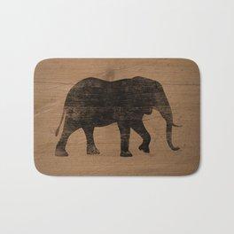 African Elephant Silhouette(s) Bath Mat