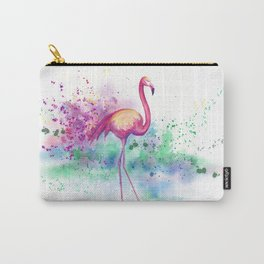 Messy Flamingo Carry-All Pouch