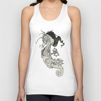 steam punk Tank Tops featuring Steam Punk Horse  by FlyingFrogIllustration