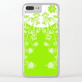 floral ornaments pattern wbm120 Clear iPhone Case