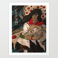 The Pizza Goddess Art Print