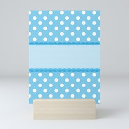 Blue Polka Dot Background Mini Art Print