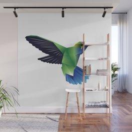 Multi-Color Abstract Hummingbird Wall Mural