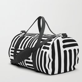 Abstract Geometric Line Pattern Duffle Bag
