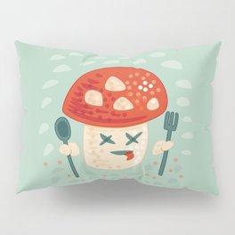 Funny Cartoon Poisoned Mushroom Pillow Sham