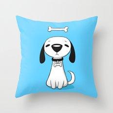 Puppy Bone Throw Pillow