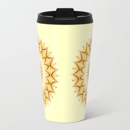 Golden Star Mandala Travel Mug
