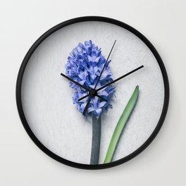 Blue Hyacinth Wall Clock