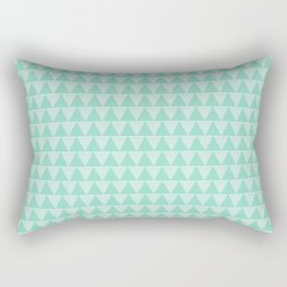 Triangle pattern in mint and white stripes Rectangular Pillow
