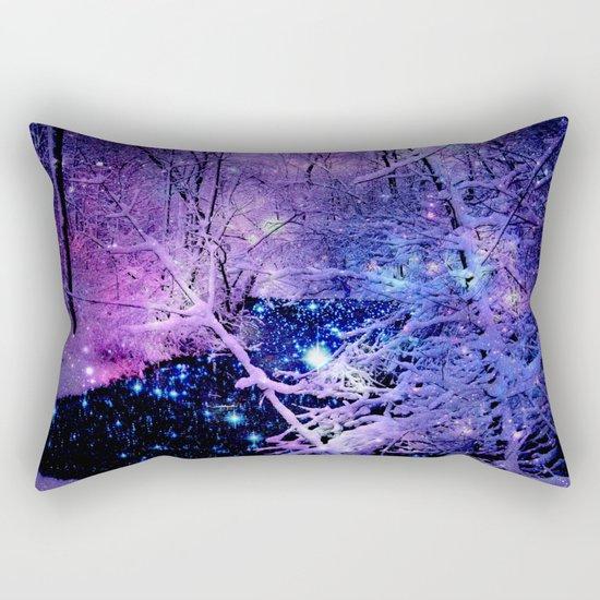 Cosmic River Galaxy Forest Rectangular Pillow