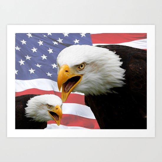 American tribute Art Print