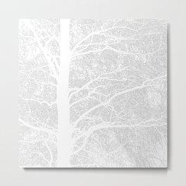 Wintry Tree Metal Print